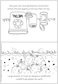 Environment coloring booklet - recycling