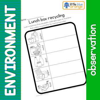 Environment observation worksheet