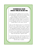 Environmental Action- Creative Problem Solving Task