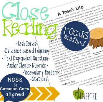 Environmental Affects on Trees Close Read Evidence and Text Dependent Packet