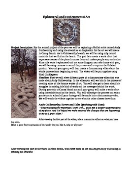 Environmental Art Project and Documentary Video