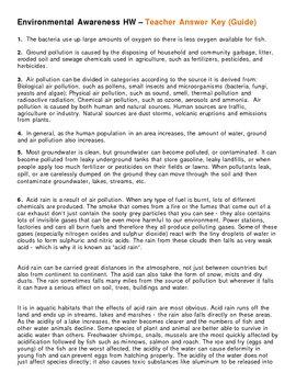 Environmental Awareness Homework