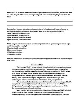 Environmental Awareness Test Prep