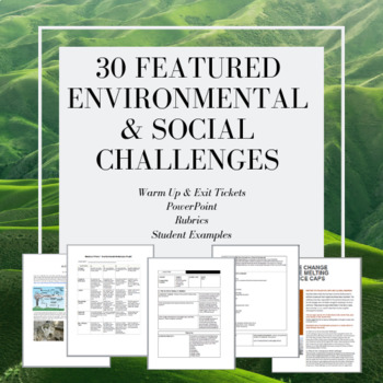 Environmental Challenges Research Project- 4 day Lesson Plans