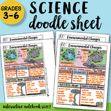 Environmental Changes - Doodle Sheet - SO EASY to Use! PPT Included!