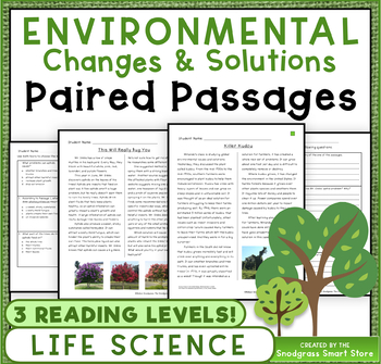 Environmental Changes: Paired Passages/Texts (3-LS4-4)