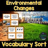 Environmental Changes Vocabulary Sort