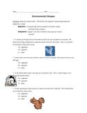 Environmental Changes Worksheet (HW)