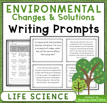 Environmental Changes: Writing Prompts (NGSS 3-LS4-4)