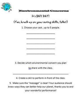 Environmental Concerns (Skit Project)