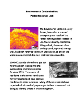 Environmental Contamination: Porter Ranch Gas Leak