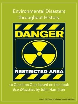 "Environmental Disasters Quiz/Worksheet *based on the book ""Eco-Disasters""*"