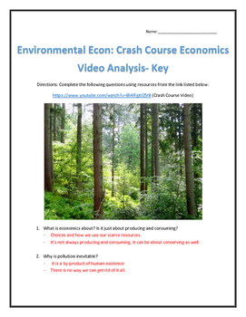 Environmental Econ: Crash Course Economics-Video Analysis with Key