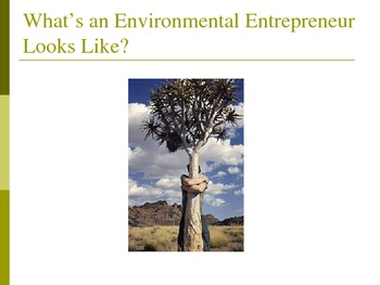 Environmental Entrepreneurism - Entrepreneurship Can Alleviate Global Warming