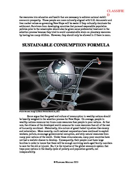 Environmental Ethics Simulation:  Population, Consumption, and Global Warming