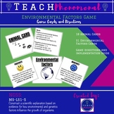 Environmental Factors Game - Directions and Game Cards