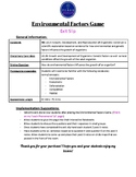 Environmental Factors Game Exit Slip