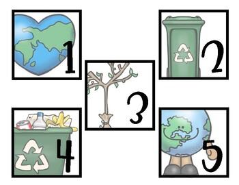 Environmental Friendly Number Labels 1-30