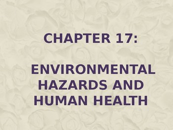 Environmental Hazards and Human Health and Solid and Hazardous Waste Unit.