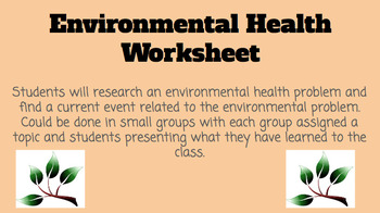 Environmental Health Concerns Assignment