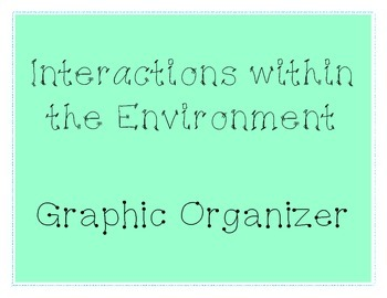 Environmental Interactions Graphic Organizer
