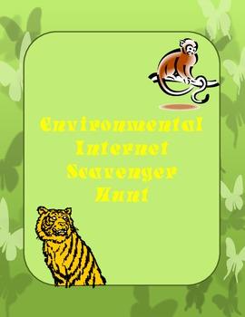Environmental Internet Scavenger Hunt Worsheet.