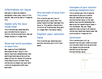 Environmental Issue Brochure Template