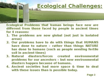 Environmental Issues Powerpoint - Global Issues