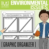 Environmental Issues Problem and Solution Graphic Organizer
