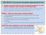 Environmental Issues and Ethinic Groups in Africa