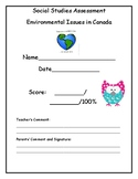 Environmental Issues in Canada Assessment