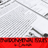 Environmental Issues in Canada BUNDLE (SS6G6, SS6G6a, SS6G6b)