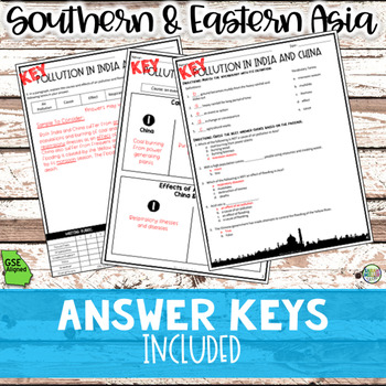 Environmental Issues in Southern & Eastern Asia (SS7G10, SS7G10a, SS7G10b)