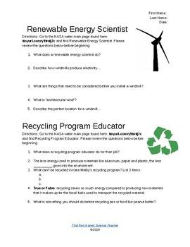 Environmental Jobs Half Sheets