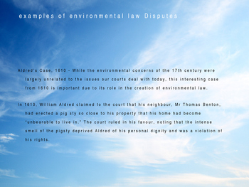 Environmental Law PowerPoint