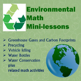 Environmental Math Mini-lessons Bundle