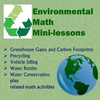Environmental Math Mini-lessons Bundle