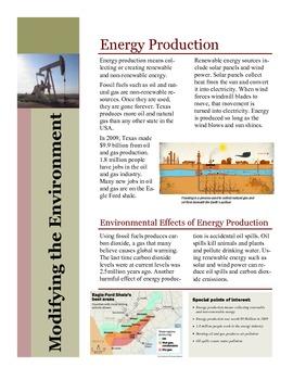 Environmental Modifications / Human Environment Interactions