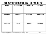 Environmental Outdoor Eye Spy Recording Sheet for Art Science Language