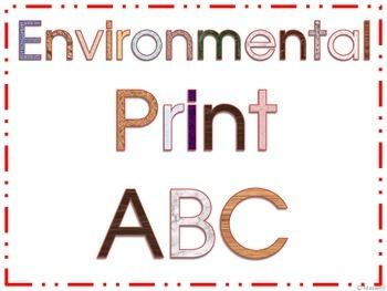 Environmental Print ABC Booklet