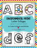 Environmental Print Alphabet Collage Posters
