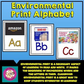 Alphabet Letters:  Environmental Print