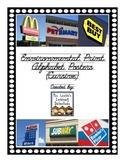 Environmental Print Alphabet Posters (Cursive)