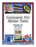 Environmental Print Alphabet Posters (Nautical/Sailor Theme)