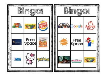 Environmental Print Bingo