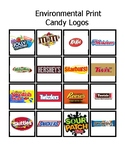 Candy logos Environmental Print File Folder Bingo for PreK/K/ESE