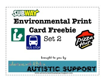 Environmental Print Card Set 2 (Freebie)