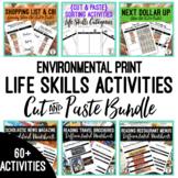 Environmental Print {Cut & Paste} Life Skills Activities BUNDLE