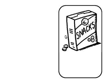 Environmental Print Emergent Reader- Snacks