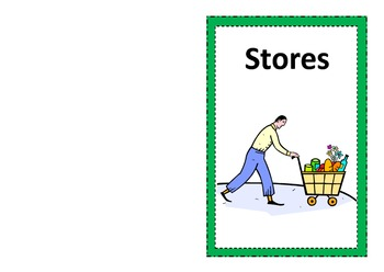 Environmental Print Emergent Reader- Stores